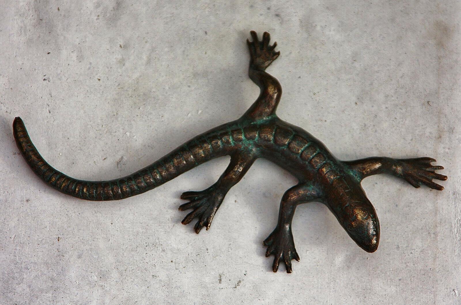 De Salamandra Lagarto Lagartos Figura Bronce Nuevo Resistente Heladas,para