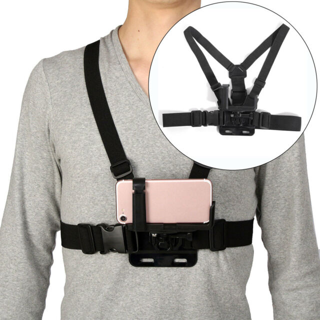quality design 51b7a 3b77f Chest Harness Strap Mount Holder + Adjustable Mobile Phone Clip For iPhone  5 6 7
