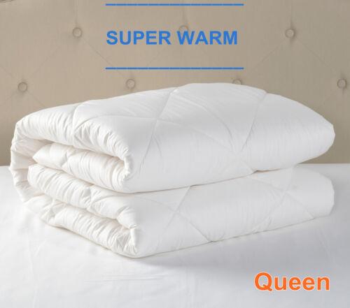 AUSTRALIAN WOOL Winter Weight Luxury Quilt//Duvet 500//700GSM-ALL SIZE