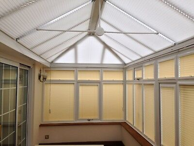 Energy Saving Conservatory Pleated Roof Blinds Solar
