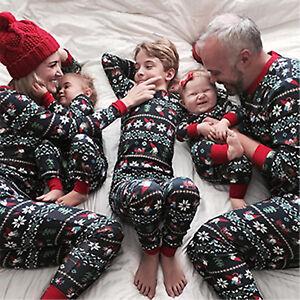 Next Christmas Pyjamas 2019.Details About 2019 Family Matching Adult Kids Christmas Pyjamas Nightwear Sleepwear Pjs Sets
