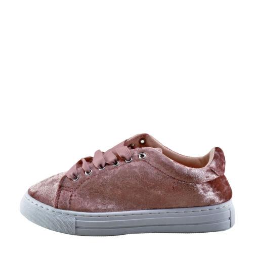 Qupid Reba 161C Pink Crush Velvet Women/'s Lace Up Sneaker