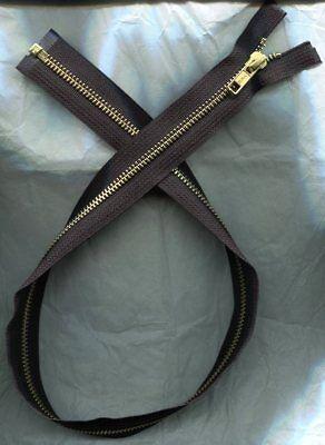 27 inch Deep Black #5 Molded Plastic Separating Ideal Zipper New!