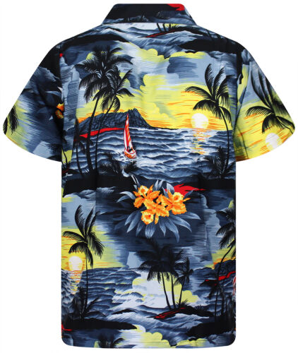 Funky Hawaiihemd Hawaiian Shirt New Surf Kurzarm Front-Tasche Kragen