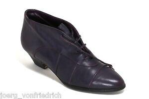 Chaussures à Lacets Donna Carolina Basses Cheville Bottes en Cuir Femme 37