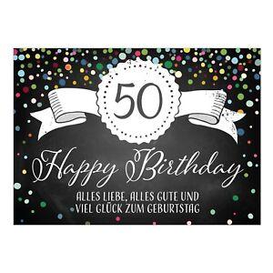 Karte 50 Geburtstag.Details Zu Grosse Xxl Gluckwunsch Karte Zum 50 Geburtstag Mit Umschlag Din A4