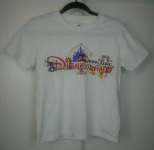 Disneyland Hong Kong kids Unisex white t-shirt size S Small