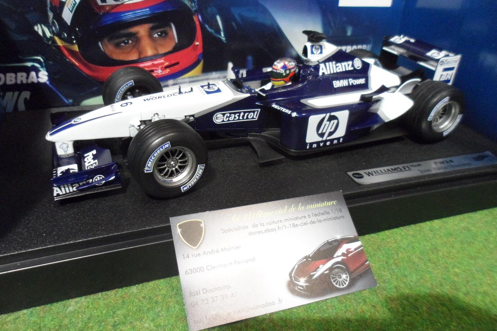 de moda F1 WILLIAMS BMW FW24 MONTOYA    6 au 1 18 HOT WHEELS MATTEL 80430146634 formule 1  forma única