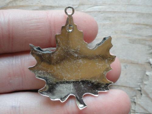 Maple Leaf Pendant Silver Plated 13x18mm Vertical Bezel 186 pkg 3