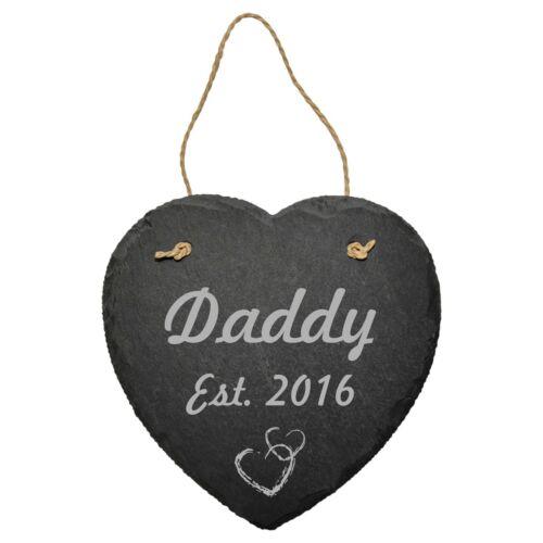 PERSONALISED SLATE SIGN PLAQUE BIRTHDAY FATHERS DAY GIFT DAD DADDY GRANDPA EST