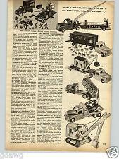 1958 PAPER AD 2 PG Toy Trucks Buddy L Structo Tonka Concrete Rescue Squad Dump