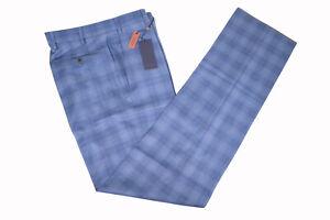 Zanella-NWT-Dress-Pants-Size-38-In-Blue-amp-Tan-Plaid-Wool-Todd-Stretch-Waistband