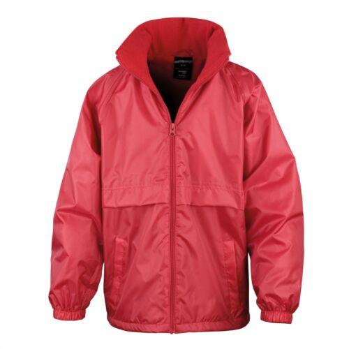 Result Core Kids Micro Fleece Lined Jacket Junior Waterproof School Uniform Coat