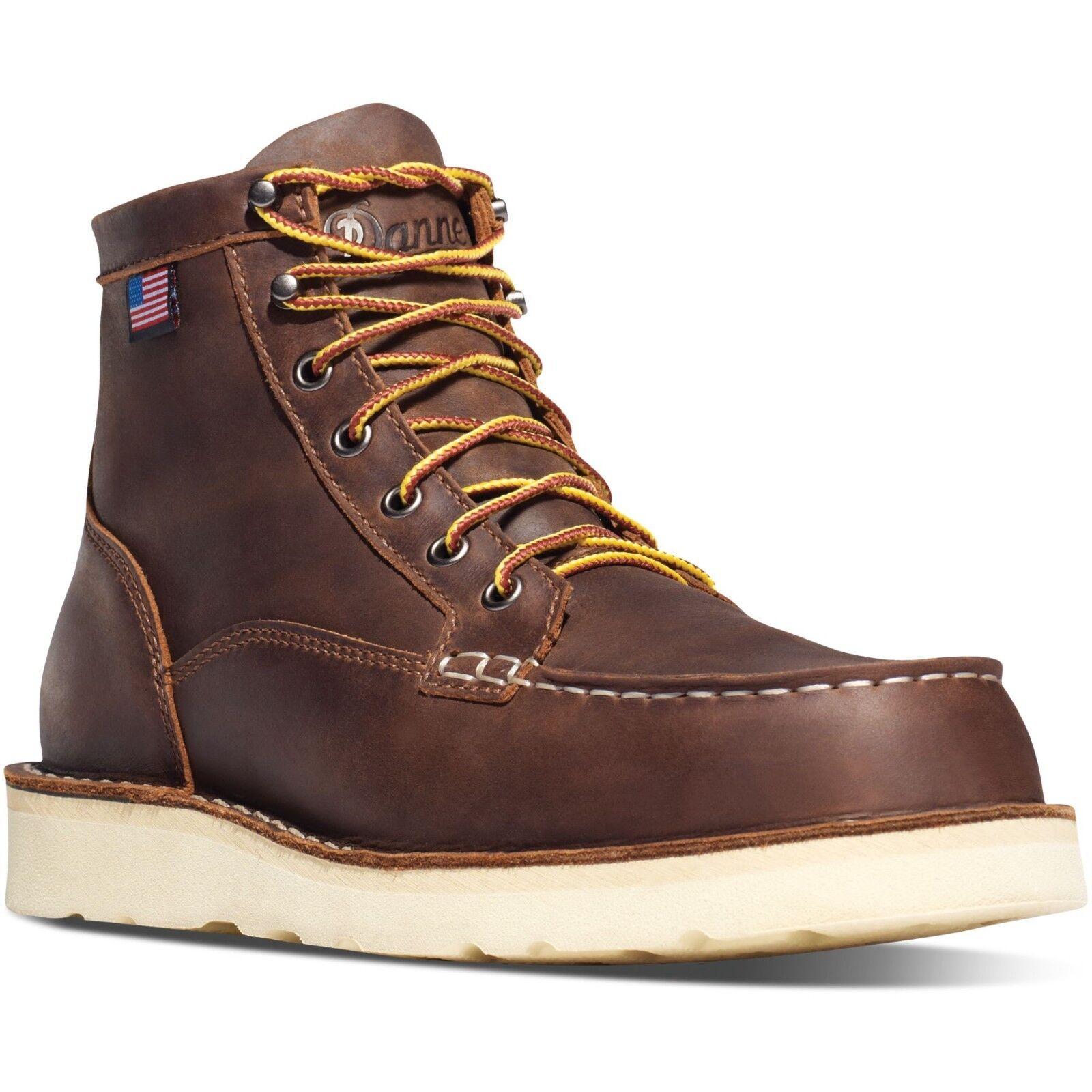 Danner para hombre 15563 Bull Moc Toe 6  Marrón Cuero Run EH botas Zapatos De Seguridad De Trabajo