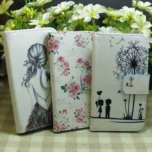 1x-Pretty-Girl-Rose-Flower-Dandelion-Wallet-Kickstand-Flip-case-cover-for-Sony
