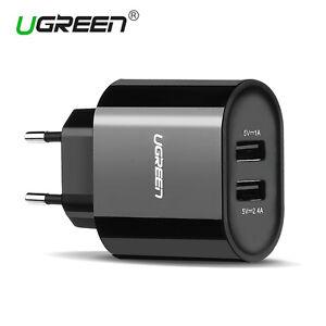 Ugreen-Cargador-con-2-Puertos-USB-5V-3-4A-USB-Adaptador-de-Corriente-Para-iPhone