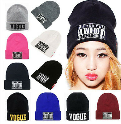 New Fashion Women's Men's Unisex Warm Winter Knit Hat cap Hip-hop Beanie Hats