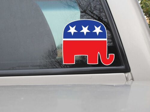 Various Sizes Republican Elephant GOP Sticker Decal Vinyl Sticker Color