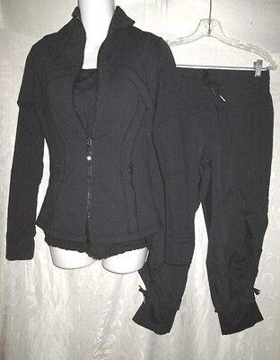 3 Pc LULULEMON Black Define Jacket, Tank & Cropped Pants 6