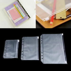 1-10pcs A5/A6/A7 Document File Pocket Folder Binder Punched Bag Office Storage