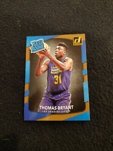 2017-18 Thomas Bryant rated rookie basketball card Donruss #160 Lakers MT