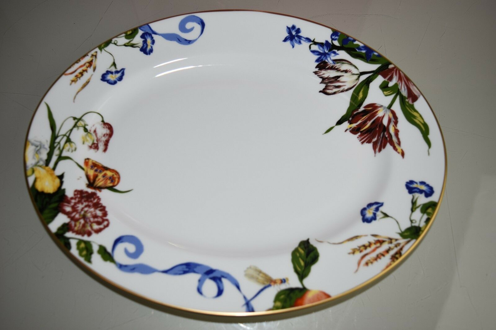 256 NEW in GIFT BOX Lenox Stravagante Scalamandre Oval Platter Butterfly 13