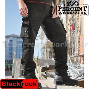 Haute Qualité Résistante Homme Pantalons De Travail Pantalons Pantalons Cargo Combat Genou Pad Poches-afficher Le Titre D'origine La Qualité D'Abord