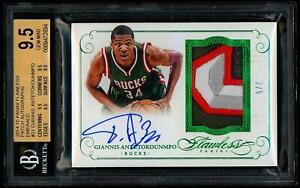 Giannis-Antetokounmpo-2014-15-Flawless-Emerald-Auto-4-Color-Patch-5-BGS-9-5-10