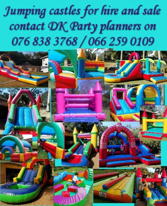 Cleaned sanitized jumping castles for hire