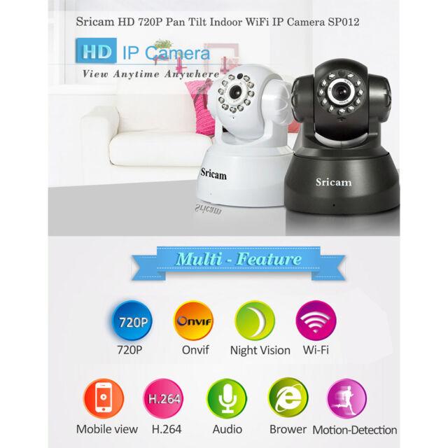 Sricam IP Caméra CCTV 1Mp P2P Sans Fil Vision Nuit Sécurité Extérieur