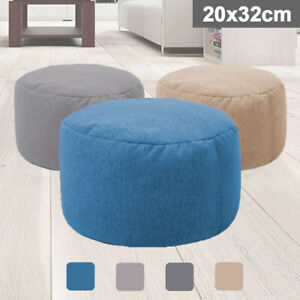 Sensational Details About Colors Bean Bag Cover Ottoman Footstool Round Stool Chair Cover Without Filling Ibusinesslaw Wood Chair Design Ideas Ibusinesslaworg