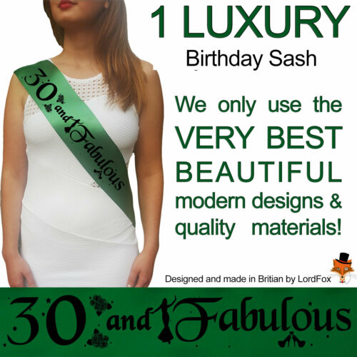 30TH BIRTHDAY GIRL PARTY SASHES THIRTY ACCESSORY FUN GIFT SASH NIGHT OUT