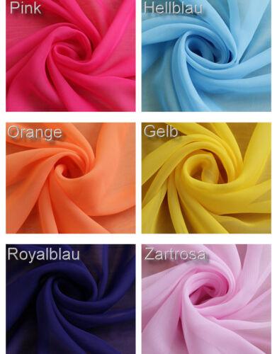 Kleider-Stoff Weich fallend für Kleid Rock viele Farben BC235 u CHIFFON Deko