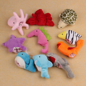 10pcs Ocean Soft Animal Puppet Baby Girl Boy Finger Toys Plush Toy Salable