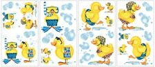 BUBBLE BATH 29 New WALL DECALS  Duck Bathroom Decorations Baby Ducks Stickers