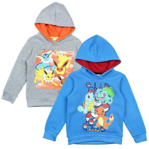 Official Pokemon Hoodie Sweatshirt Jumper Boys Girls Ages 4-12 Brand New
