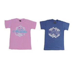 Kids-Girls-T-Shirt-Australian-Australia-Day-Souvenir-100-Cotton-Down-Under