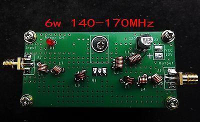 6W 140M-170MHz VHF Power Amplifier For FM Transmitter RF Radio Ham With Heatsink