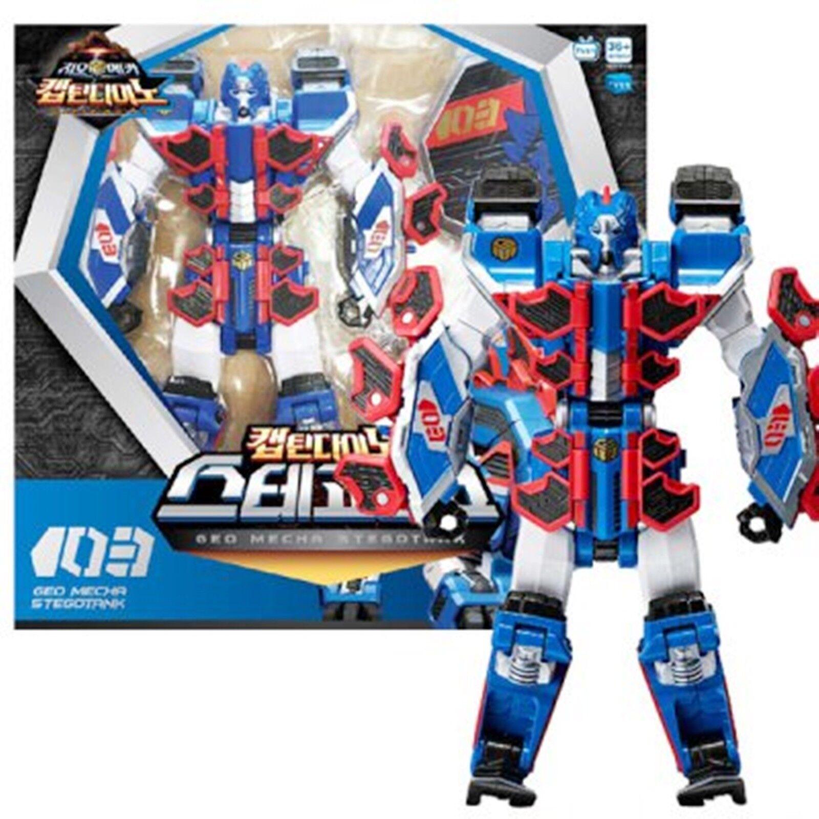 Geo Mecha captaindino stegotank transformateur Robot Action Figure Toy