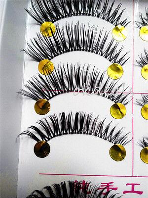 New 10 Pairs Makeup Handmade Natural Long False Eyelashes Eye Lashes Thick Party