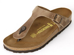 85ee9ea15fb8 Image is loading Birkenstock-Oiled-Leather-GIZEH-Tobacco-Tabacco-Brown-BNIB-