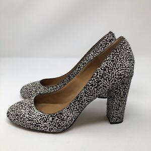 53a5b6fbb951 J.CREW Etta Cheetah Leopard Animal Print Calf Hair Pump Size 9.5 ...