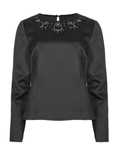 By Satin abbellito Marks Autograph Spencer Blouse Bead Bnwt R5XwPqp