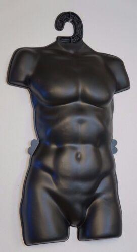 10 Male Henta Plastic Body Form Torso Mannequin Hanger Lingerie Display