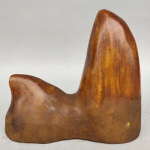 China-Exquisite-Hand-carved-Carving-OX-Horn-Statues-NJ19