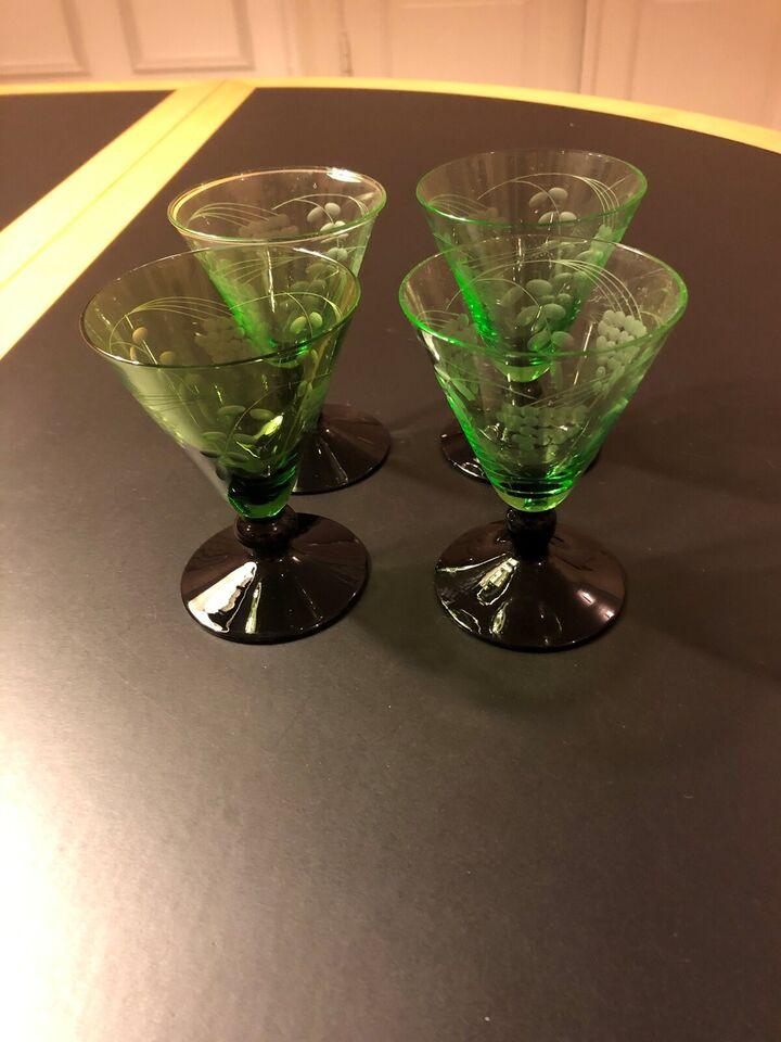 Glas, Hvidvinsglas, sortfodsglas