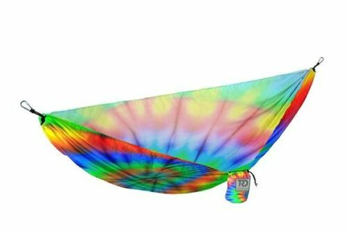 Twisted Root Design Coloré Tye Dye Print Hamac Camping Randonnée W Stuff Sack