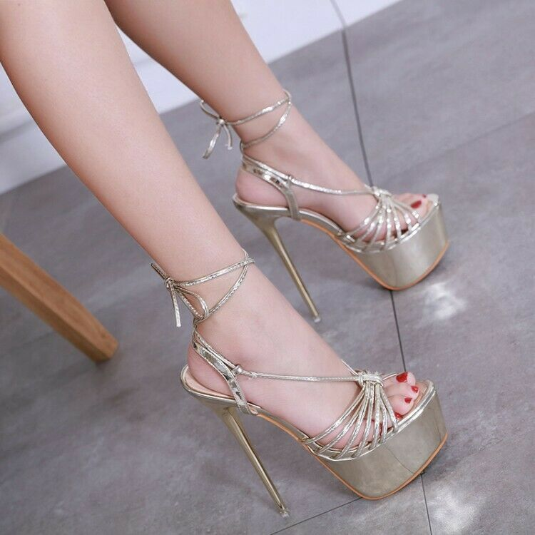 Occident Occident Occident high stilettos heels gross strappy loop fasteners platform sandals Dimensione bd3c2c