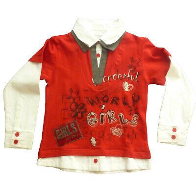 Camisas Niña De Losan ,rojo , Talla 7