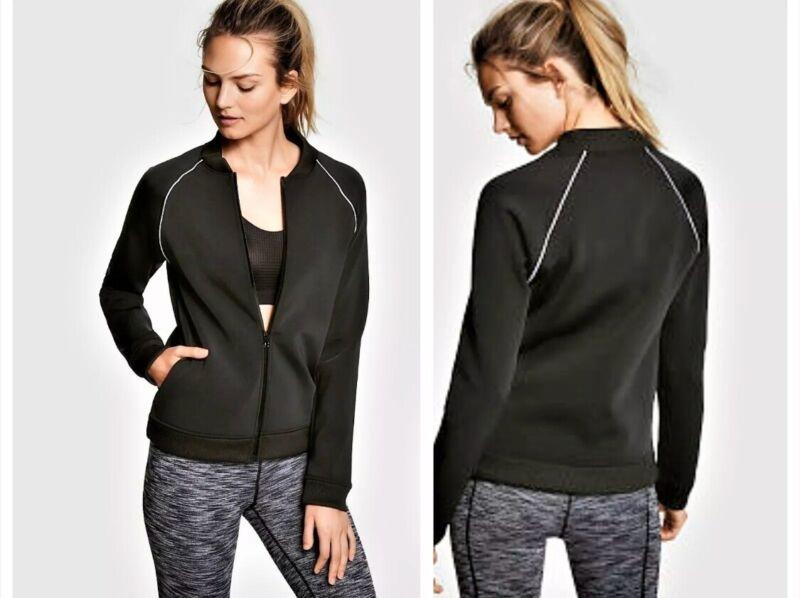 Enthusiastic Victoria Secret Sport Black Zip Up Jacket Nwt Size M Beneficial To Essential Medulla